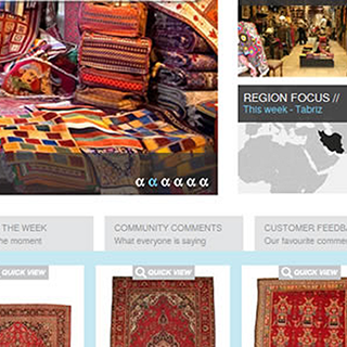 Atlantis Rugs Magento website