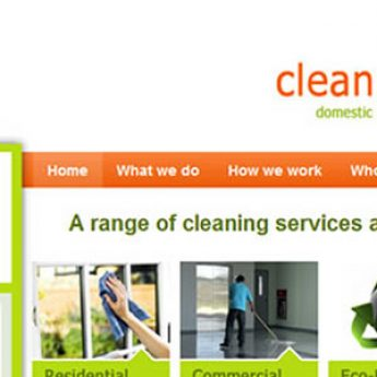 Wordpress website for cleaning company