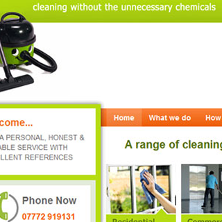 Clean & Greener :  Cleaning Company Website