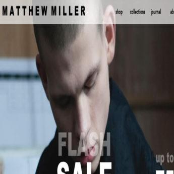 Magento e-commerce store for Matthew Miller