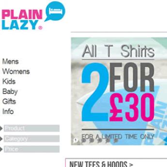Plain Lazy Magento store