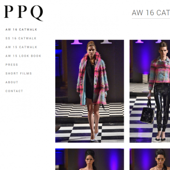 PPQ London Magento website