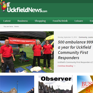 Uckfield News WordPress website design