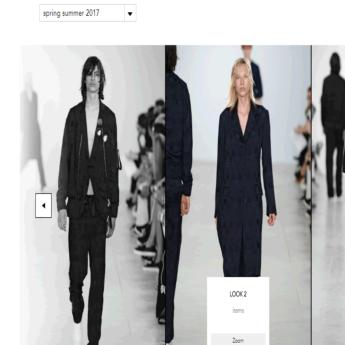 Fashion website developed for Matthew Miller