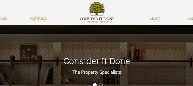 Property Services Website Consider It Done preview