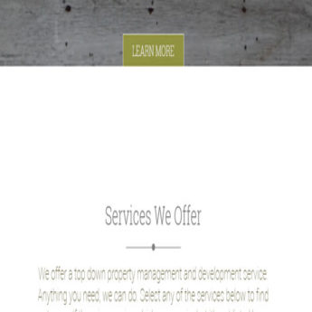 Wordpress roperty services website