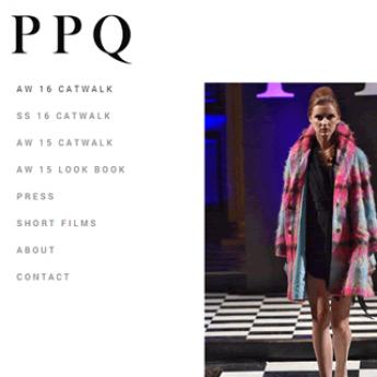 PPQ London Magento fashion website
