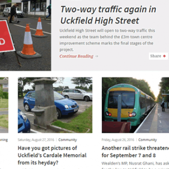 Uckfield News WordPress website