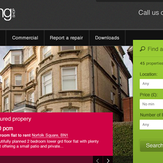 Sussex Letting Shop : WordPress web design