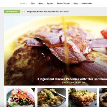 VeganFood WordPress site